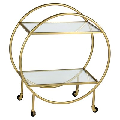 Bar cart - BASS BRASS ROUND - RW