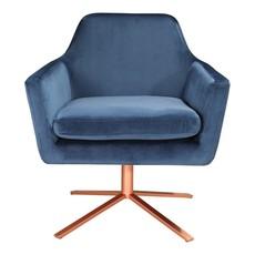 MOE'S Arm chair - PIVOT BLUE VELVET - MS