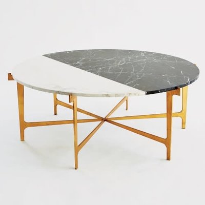 GLOBAL VIEWS GV - MAXWELL MARBLE/GOLD - Coffee table