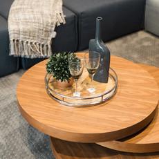 Coffee table - TORNO WALNUT ROUND - MS