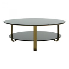 Coffee table - COLE BLACK GLASS/GOLD - MS