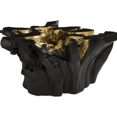 COFFEE TABLE - FREEFORM BLACK, GOLD LEAF