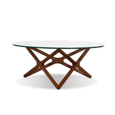 COFFEE TABLE - QUASAR GLASS WALNUT - MB