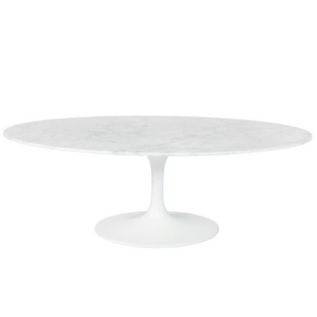 COFFEE TABLE - FLUTE WHITE MARBLE