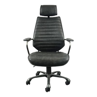 Office chair - EXECUTIVE BLACK LEATHER - MS