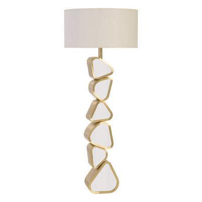 Phillips Collection FLOOR LAMP - PEBBLE METAL BRASS