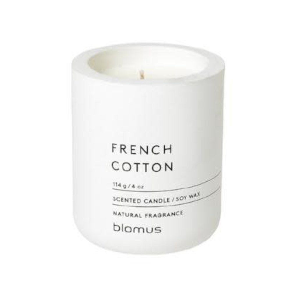 BS - CANDLE WHITE COTTON SCENT SM