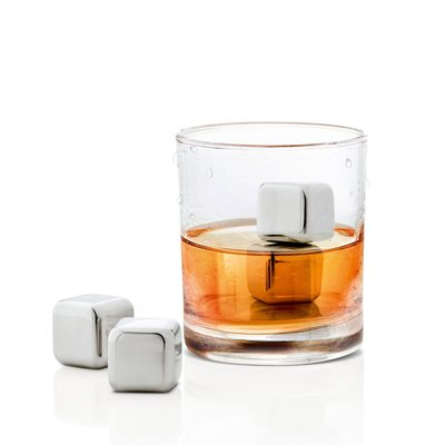 BLOMUS STAINLESS STEEL ICE CUBES - SET OF 4