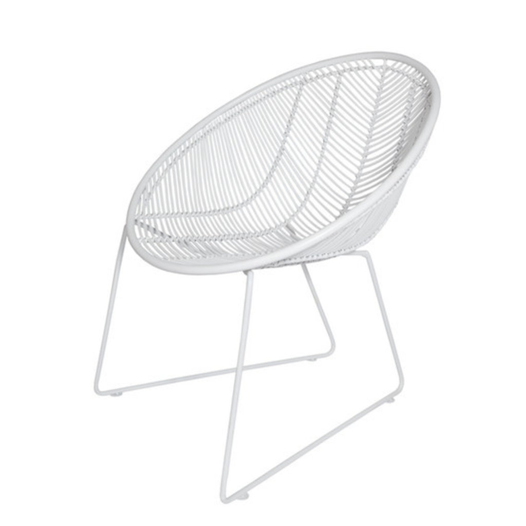 CHAIR - OUTDOOR RATTAN WEAVE WHITE