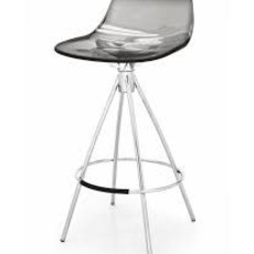 Bar stool - LED METAL&PLASTIC TRANSPSRENT GREY - CB