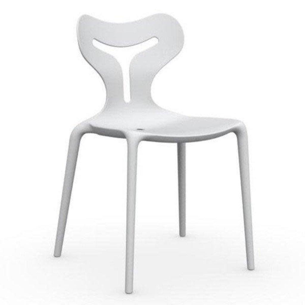 CONNUBIA Dining chair - AREA 51 MATT PLASTIC WHITE - CB