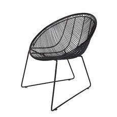 CHAIR - OUTDOOR RATTAN WEAVE BLACK