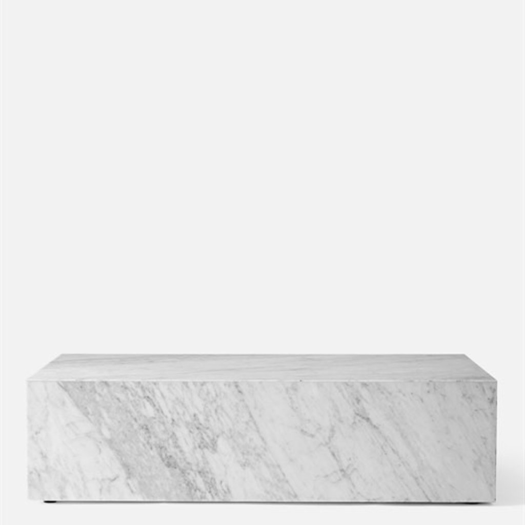 Coffee Table - PLINTH LOW WHITE MARBLE - MU