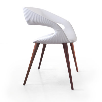 BELLINI DINING CHAIR - SHAPE WOOD WHITE - BL