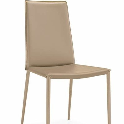 CONNUBIA Dining chair - BOHEME MATT NOUGAT LEATHER - CB
