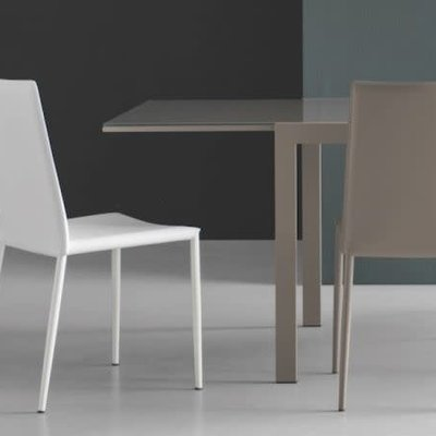 CONNUBIA Dining chair - BOHEME MATT OPTIC WHITE LEATHER - CB