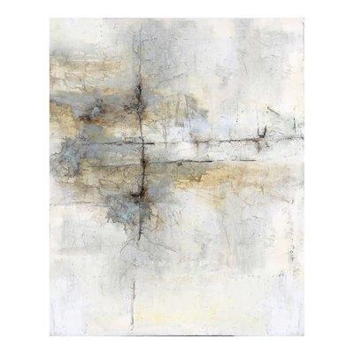 Painting - TERRAIN FADE YELLOW GREY 59X47 - MS