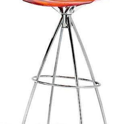 CONNUBIA Bar stool - L'EAU ORANGE/SATION FINISHED STEEL - CB