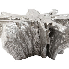 Phillips Collection COFFEE TABLE - Freeform Coffee Table, Silver Leaf - PC