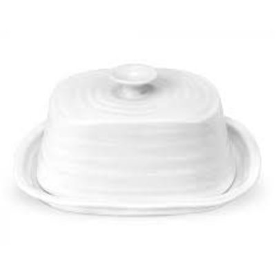 "PORTMEIRION SC - OBLONG COVERED BUTTER DISH 7.5"" x 6.25"""