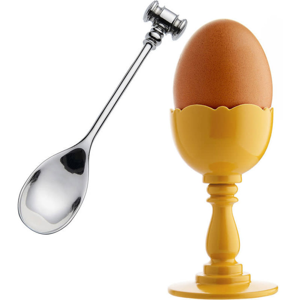 ALESSI AI - DRESSED EGG CUP & SPOON YELLOW