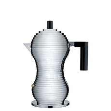 ALESSI AI - PULCINA ESPRESSO COFFEE MAKER BLACK - MEDIUM