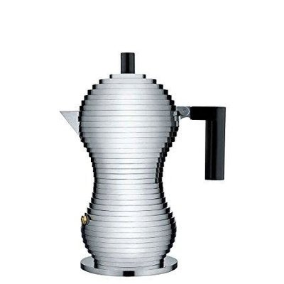 ALESSI PULCINA ESPRESSO COFFEE MAKER BLACK - MEDIUM