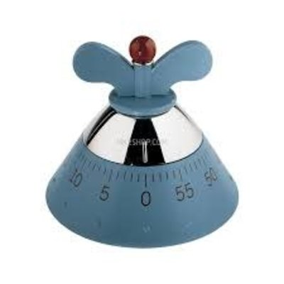 ALESSI KITCHEN TIMER - LIGHT BLUE