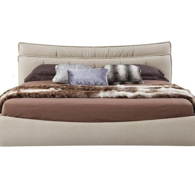 BED - Queen Cream Fabric - CW