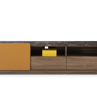 SIDEBOARD - Orange/Walnut/Marble - CW