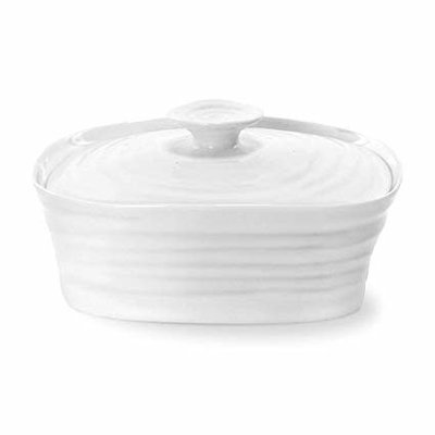 """PORTMEIRION SC - COVERED BUTTER DISH 6X4.75"""""""