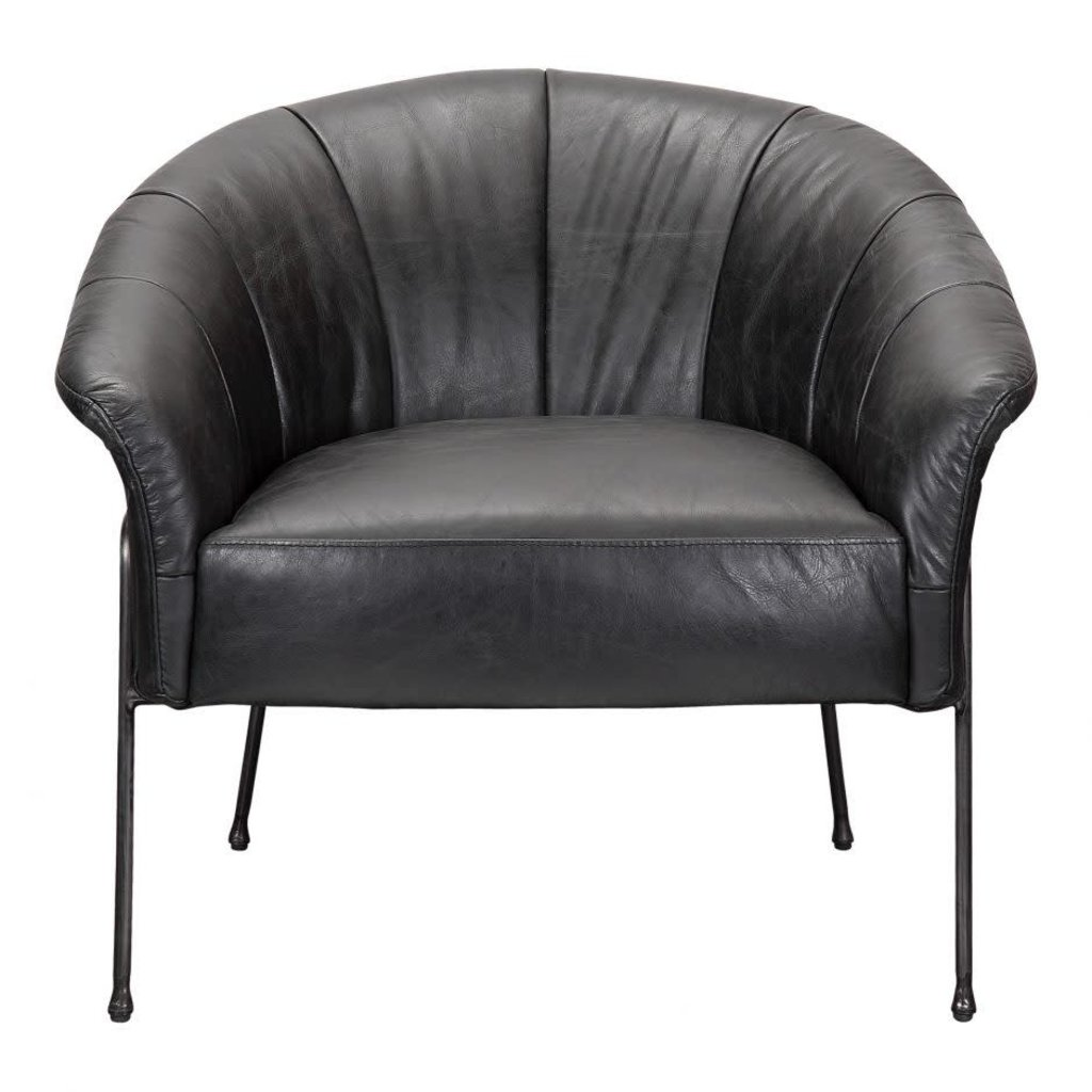 MOE'S GORDON ARM CHAIR BLACK