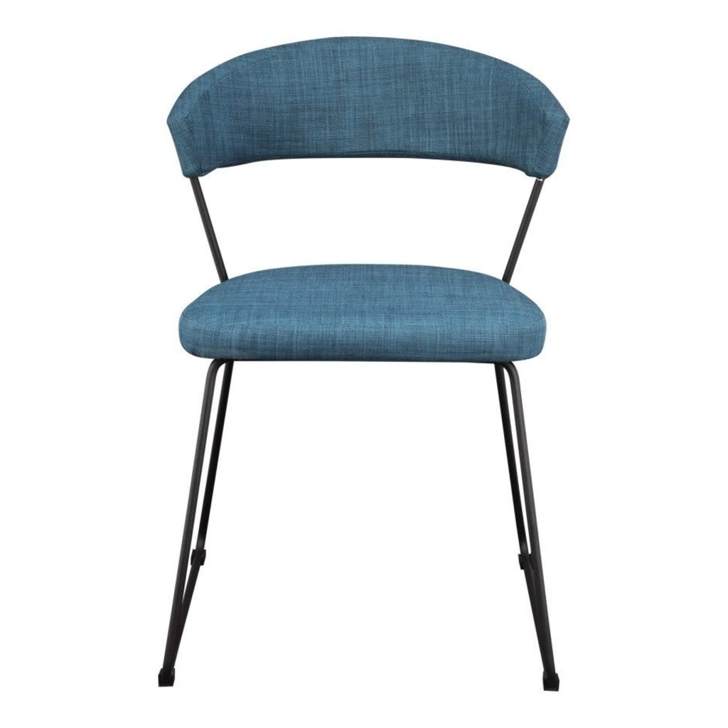 MOE'S ADRIA DINING CHAIR BLUE