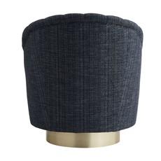 ARTERIORS ARMCHAIR - Springsteen Chair Indigo Tweed Champagne Swivel - AR
