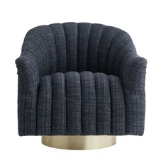 ARTERIORS ARMCHAIR - Springsteen Chair Indigo Tweed Champagne Swivel - AR