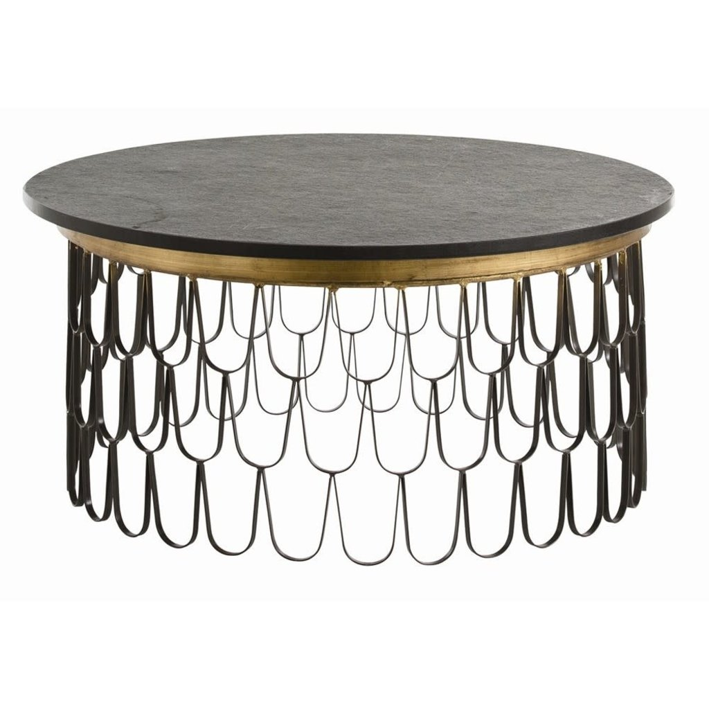 ARTERIORS COFFEE TABLE - ORLEANS GOLD/BLACK - AR