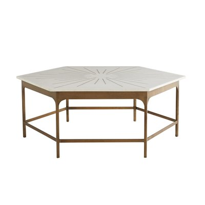 ARTERIORS COFFEE TABLE - MAE GOLD/WHITE MARBLE - AR
