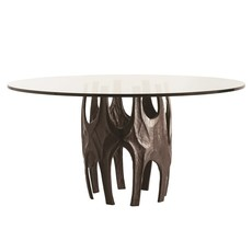 ARTERIORS DINING TABLE - NAOMI ROUND GLASS - AR