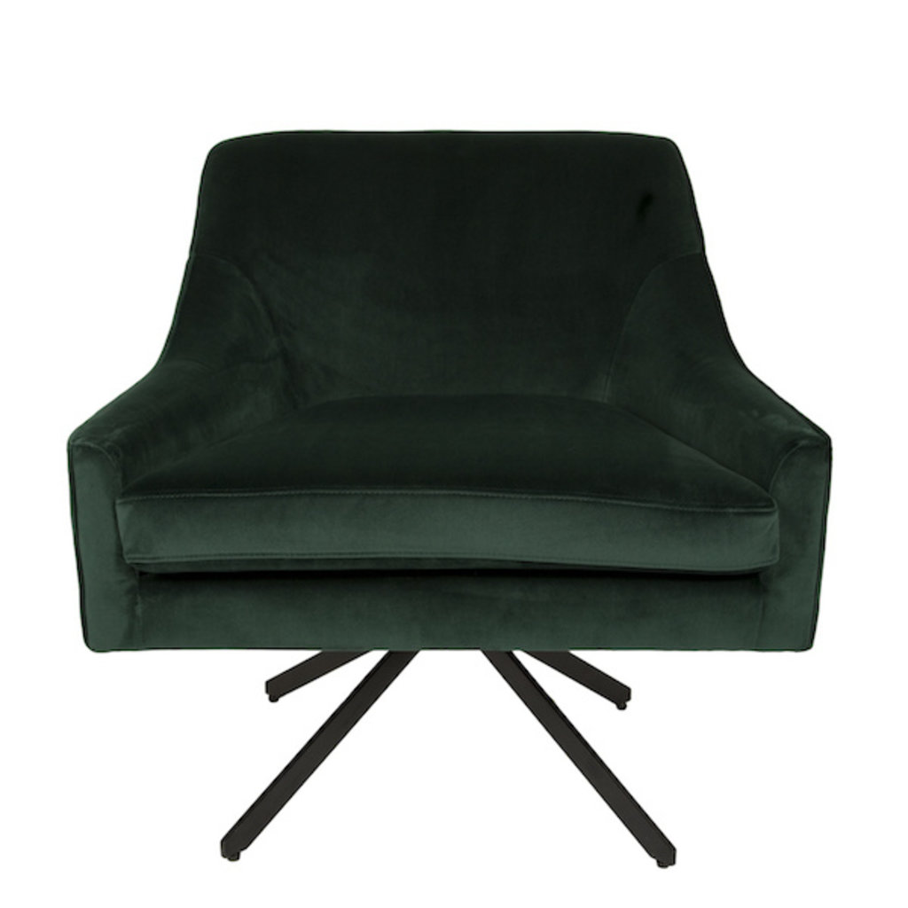 ARM CHAIR - ETHAN DARK GREEN VELVET