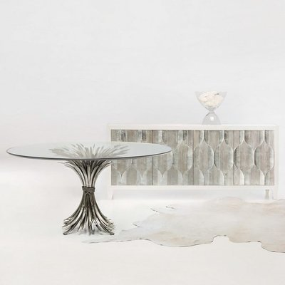Dining table - SOMERSET TABLE ALUMINUM GLASS - BH