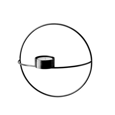 MU - POV CIRCLE CANDLEHOLDER SM BLACK