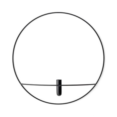 MU - POV CIRCLE VASE LG BLACK - VASE