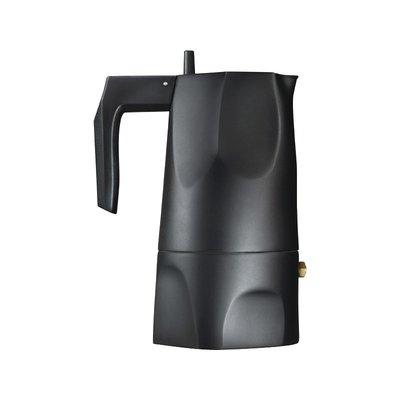 ALESSI AI - Espresso coffee maker. 3 cups. - Ossidiana - BLACK