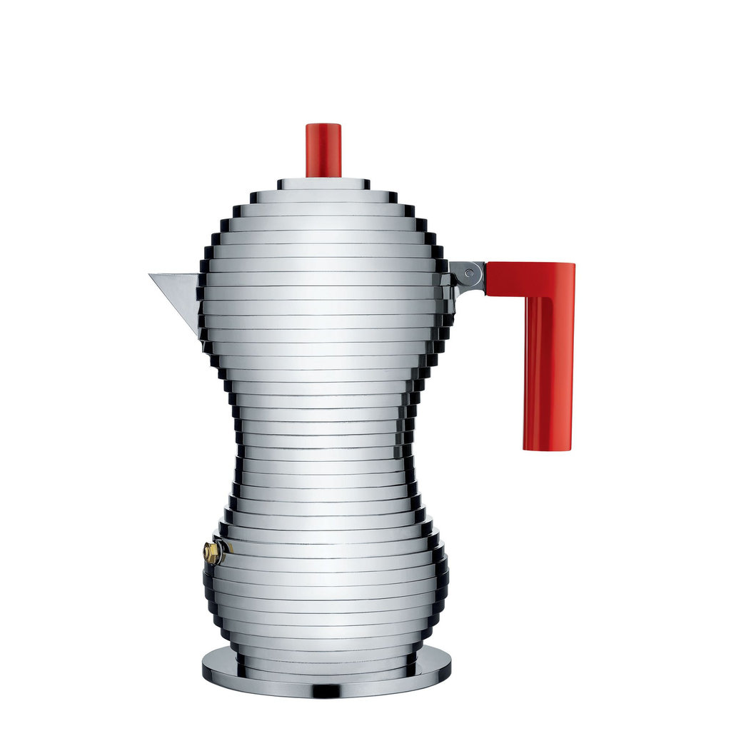 ALESSI AI - PULCINA ESPRESSO COFFEE MAKER RED - MEDIUM