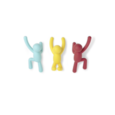 UMBRA UA - BUDDY HOOKS COLOR SET OF 3