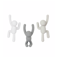 UMBRA UA - BUDDY HOOKS GREY SET OF 3