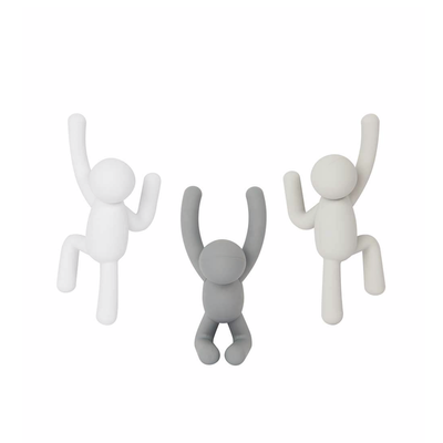 BUDDY HOOKS GREY SET OF 3