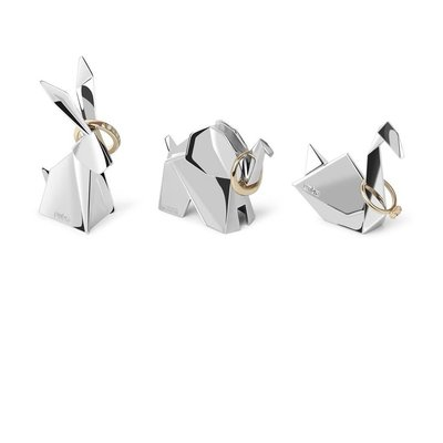 ORIGAMI PACK OF 3 CHROME