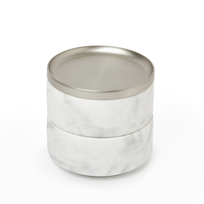 UMBRA TESORA MARBLE BOX WHITE/NICKEL