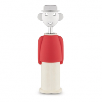 ALESSI CORKSCREW ALESSANDRO M. RED/WHITE